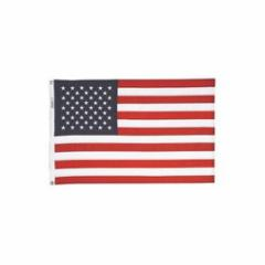 "ANNIN FLAG American Flag, 36"" x 60"". Nyl-Glo nylon outdoor. Sewn, water/mildew resistant."
